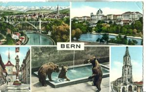 Switzerland, Suisse, Berne, used Postcard
