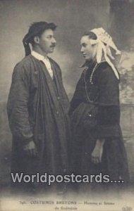Costumes Bretons Homme et femme de Guemenee, Belgium Unused
