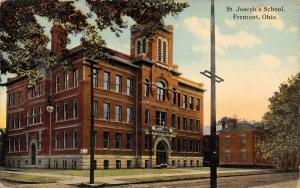 Fremont Ohio~St Joseph's Catholic School~Now Elementary but Closed!1912 Postcard