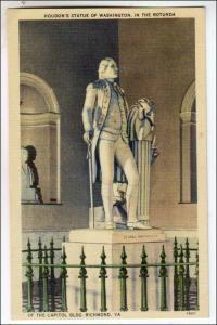 Houdon's Statue of Washington, Capitol Bldg, Richmond VA
