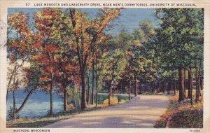 Lake Mendota And University Drive Near Men's Dormitories University Of W...