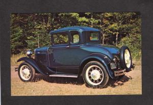 PEI 1930 Model A Ford Car Automobile Bonshaw Prince Edward Island Carte Postale