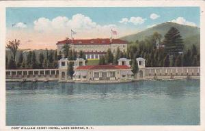 New York Lake George Fort Willam Henry Hotel 1920
