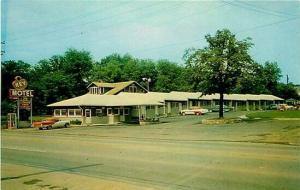 TN, Nashville, Tennessee, Key Motel, 1960s Cars, Dexter Press No. 13355-B