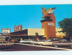 Pre-1980 THUNDERBIRD CASINO HOTEL PARKING LOT Las Vegas Nevada NV AE1288