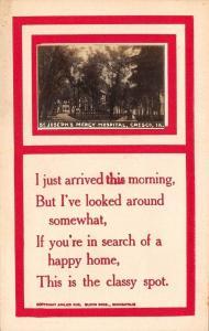 Cresco Iowa~St Josephs Mercy Hospital~Red Border Poem~RPPC 1910