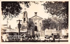 Ciudad Juarez Mexico Guadalupe Church Real Photo Antique Postcard J40099