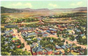 Linen Bird's Eye View of Raton New Mexico NM