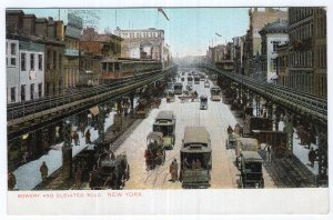 Bowery and Elevated Road, New York