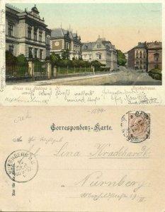 czech germany, GABLONZ, Jablonec nad Nisou, Reichsstrasse (1899) Postcard