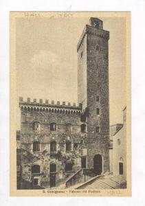 Palazzo Del Podesta, Hall, San Gimignano (Siena), Tuscany, Italy, 1900-1910s