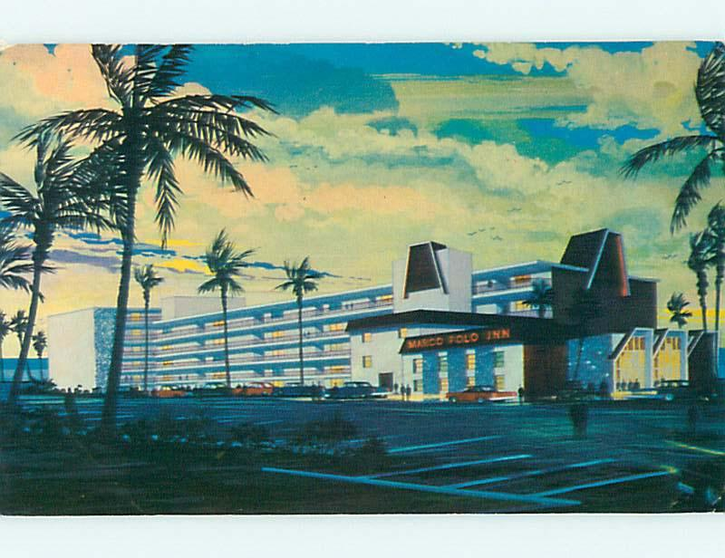 Pre-1980 MARCO POLO INN MOTEL Daytona Beach Florida FL s7128