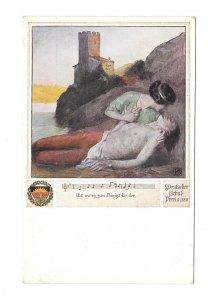 Es waren zwei Konigskinder Deutscher Schulverien J Eberle Wein Nr 462 Postcard
