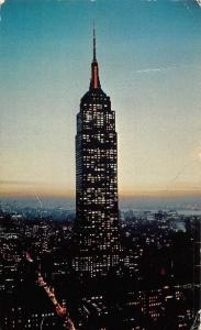 USA Empire State Building at Night, breath-taking view 1963