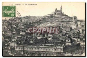 Old Postcard Marseille Panoramic view