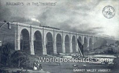 Railways in the Thirties Sankey Valley Viaduct England, United Kingdon of Gre...