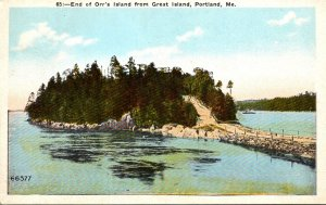 Maine Portland End Of Orr's Island From Great Island