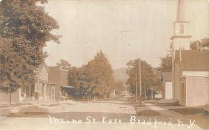 Bradford NY Dirt Street View 1908 RPPC Real Photo Postcard