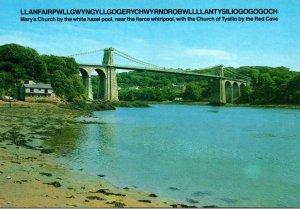 Wales Anglesay The Menai Suspension Bridge