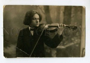 3041421 Young VIOLINIST AUTOGRAPH vintage PHOTO RUSSIAN