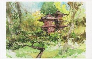 Japanese Gardens Golden Gate Park San Fransisco Painting Postcard