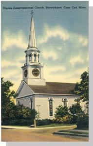 Harwichport,Mass/MA Postcard,Pilgrim Church/Cape Cod,Nr Mnt!