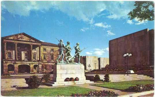 War Memorial & Province House, Charlottetown, Prince Edward Island, 1979 chrome