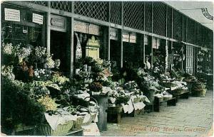 VINTAGE POSTCARD: GB : Guernsey - FRENCH MARKET 1907