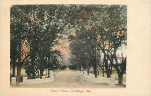 Carthage Missouri~Cassil Place Entrance @ Sundown~Early Autumn~1920s Postcard