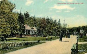 Canobie Lake Park Promenade 1910 Salem New Hampshire postcard 10017