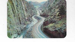 Vtg 1972 Thompson Canon, Hwy 34, Rocky Mountains, Colorado Postcard