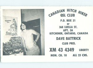 Pre-1980 RADIO CARD - CB HAM OR QSL Kitchener Ontario ON AH1668