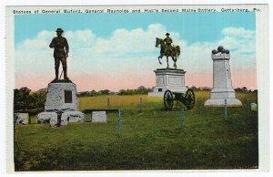 Gettysburg, Pa., Statues of General Buford, General Reynolds