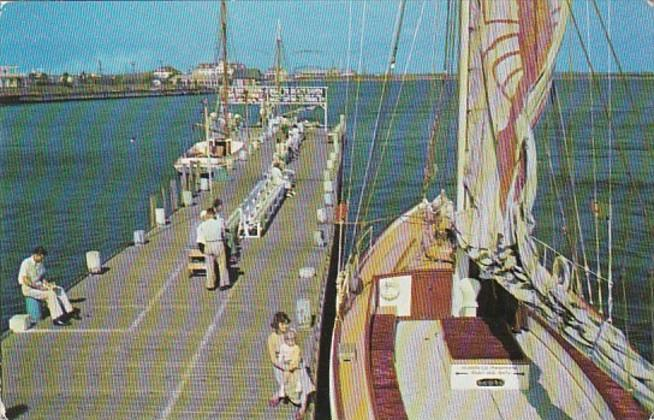 New Jersey Atlantic City Pier At The Inlet 1952