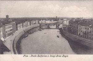 Pisa, Ponte Solferino e Lung' Arno Regio, 1900-10s