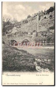Old Postcard Luxembourg Bridge Stierchen