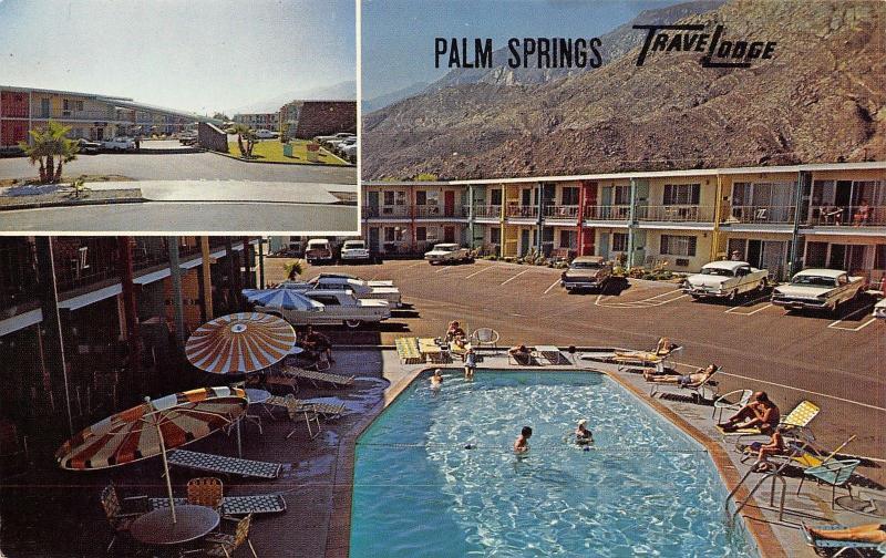 Palm Springs CA TraveLodge Motel~Morning Shade~Swimming Pool