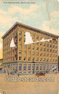 First National Bank Mason City, Iowa, USA 1911 crease left top corner a lot o...