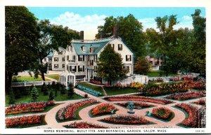 Massachusetts Salem Ropes Memorial and Botanical Garden Built 1719 Curteich