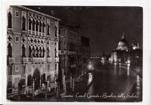 Venezia, Canal Grande e Basilica della Salute, 1960 used real photo, Postcard