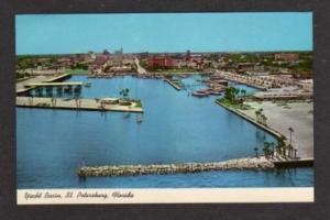 ST PETERSBURG FLORIDA FL Yacht Basin Postcard PC