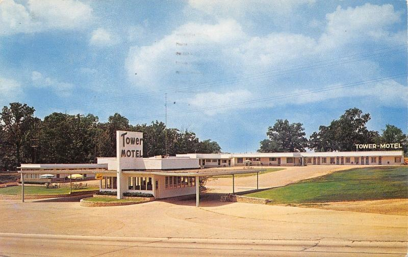 Poplar Bluff Missouri~Tower Motel~Best Western~Stand Alone Office~1960  Postcard