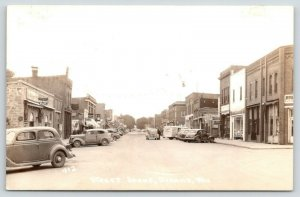 Durand WI~What Time Was It? Bank Clock~Learnman Studio~Ice Cream Truck~RPPC 1945