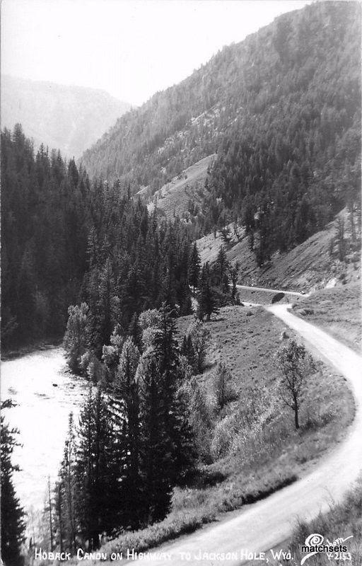 Hoback Canon Highway Jackson Hole Wyoming Sanborn RPPC real photo 1918