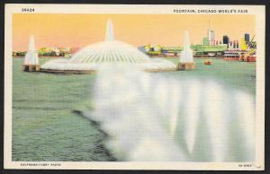 Chicago Worlds Fair 1933-1934 Fountain Chicago Illinois Unused c1934
