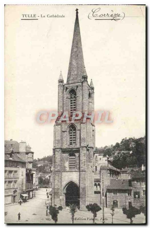 Old Postcard Tulle Cathedral