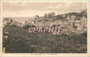 Old Postcard Ault Onival General view