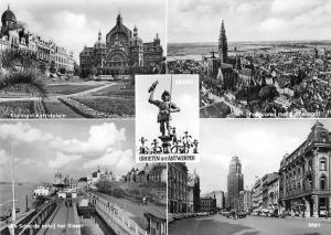 Belgium Groeten uit Antwerpen, Bravo, Panorama met Kathedrale Cathedral