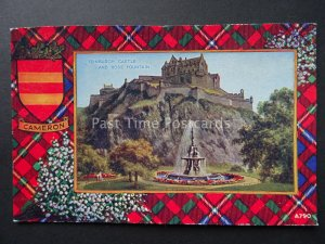 Scotland CAMERON Clan Tartan & Coat of Arms c1934 Postcard by Valentine