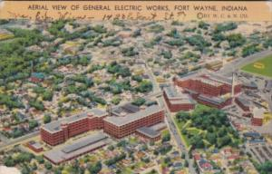 Indiana Fort Wayne Aerial View Of General Electric Works 1943
